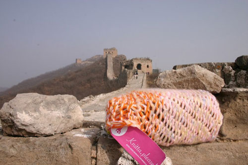 Knitta please on Great Wall of China