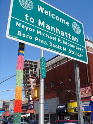 Knitta please in Manhatten, New York