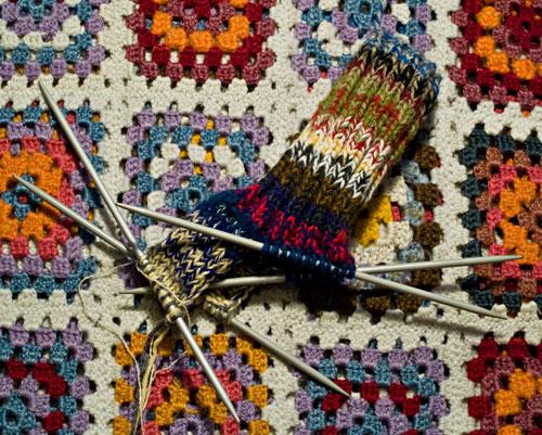 Ragg socks made by leftover yarn