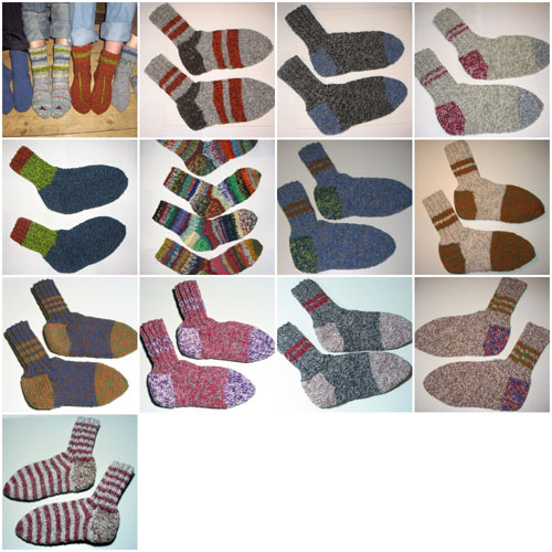 Large ragg sock collection