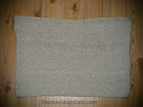 White hand towel knitted